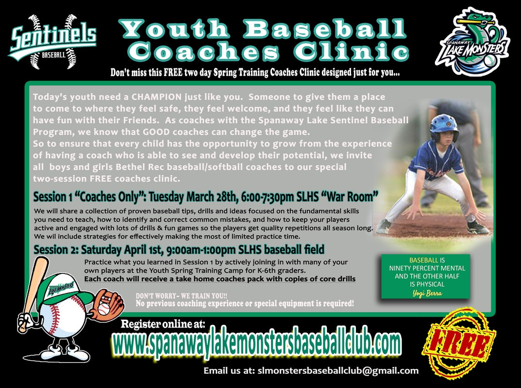 Join The Spanaway Lake High School Baseball Program In A Two Day Youth Coaches Clinic That Focuses On How To Go About Teaching Many Of Key